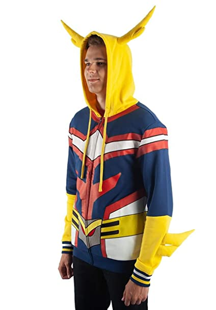Amazon.com: Bioworld My Hero Academia All Might Character Hoodie: Clothing