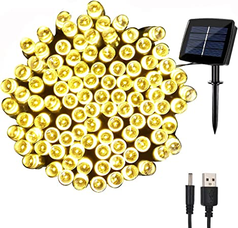 Amazon.com: woohaha - Cadena de luces solares impermeables ...