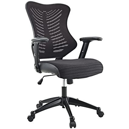 amazon com modway clutch office chair with mesh back and seat