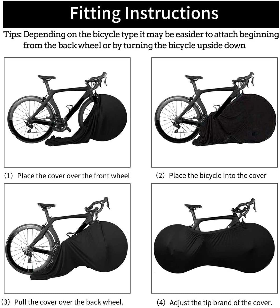 Bike Cycling Cover Indoor Anti-dust Bicycle Garage Wheel Chains Case Storage Bag
