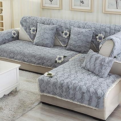 Peluche de terciopelo Protector de los muebles del sofá Sofá ...