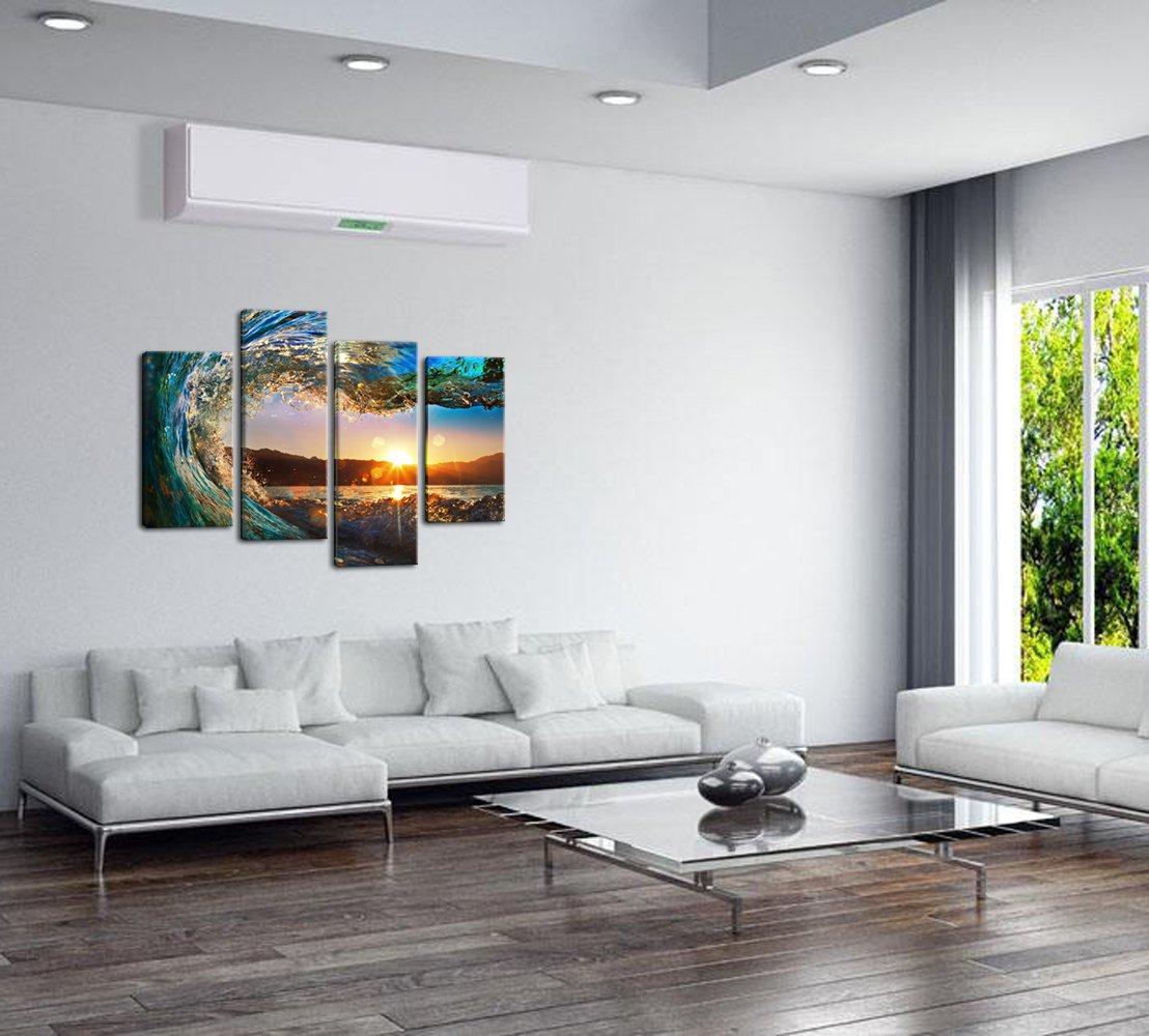 Amazon.com: Sea Charm- 4 Panel Florida Seascape Canvas Wall Art ...