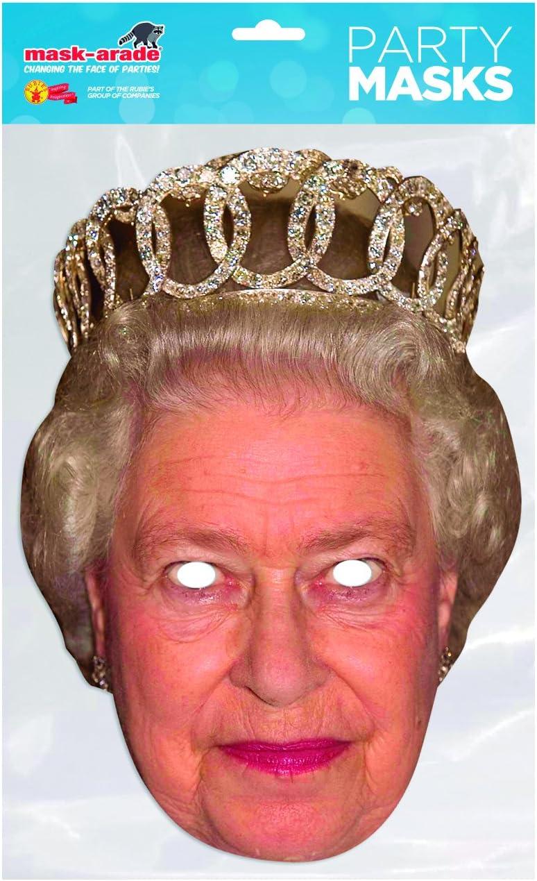 Rubies-Mascara reina elisabeth adulto talla unica, color beige ...