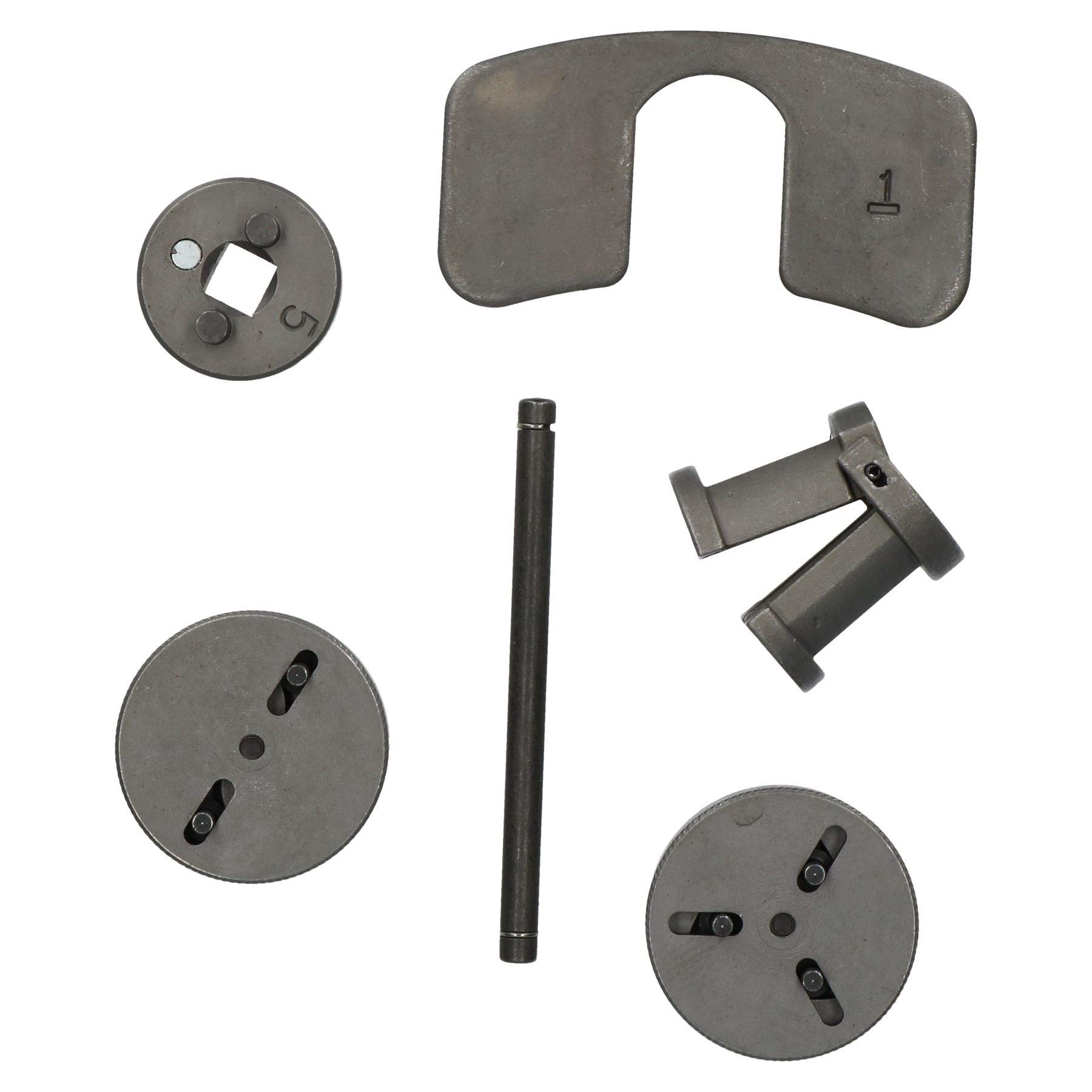 AB Tools-Neilsen 7pc Universal Adjustable Brake Caliper Rewind Tool Kit 2 and 3 Pin Wind Back Kit by AB Tools-Neilsen (Image #2)