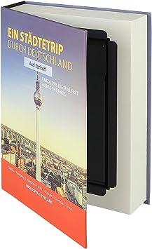 HMF 80915 caja fuerte en forma de libro, caja de caudales camuflada, páginas de papel auténticas,