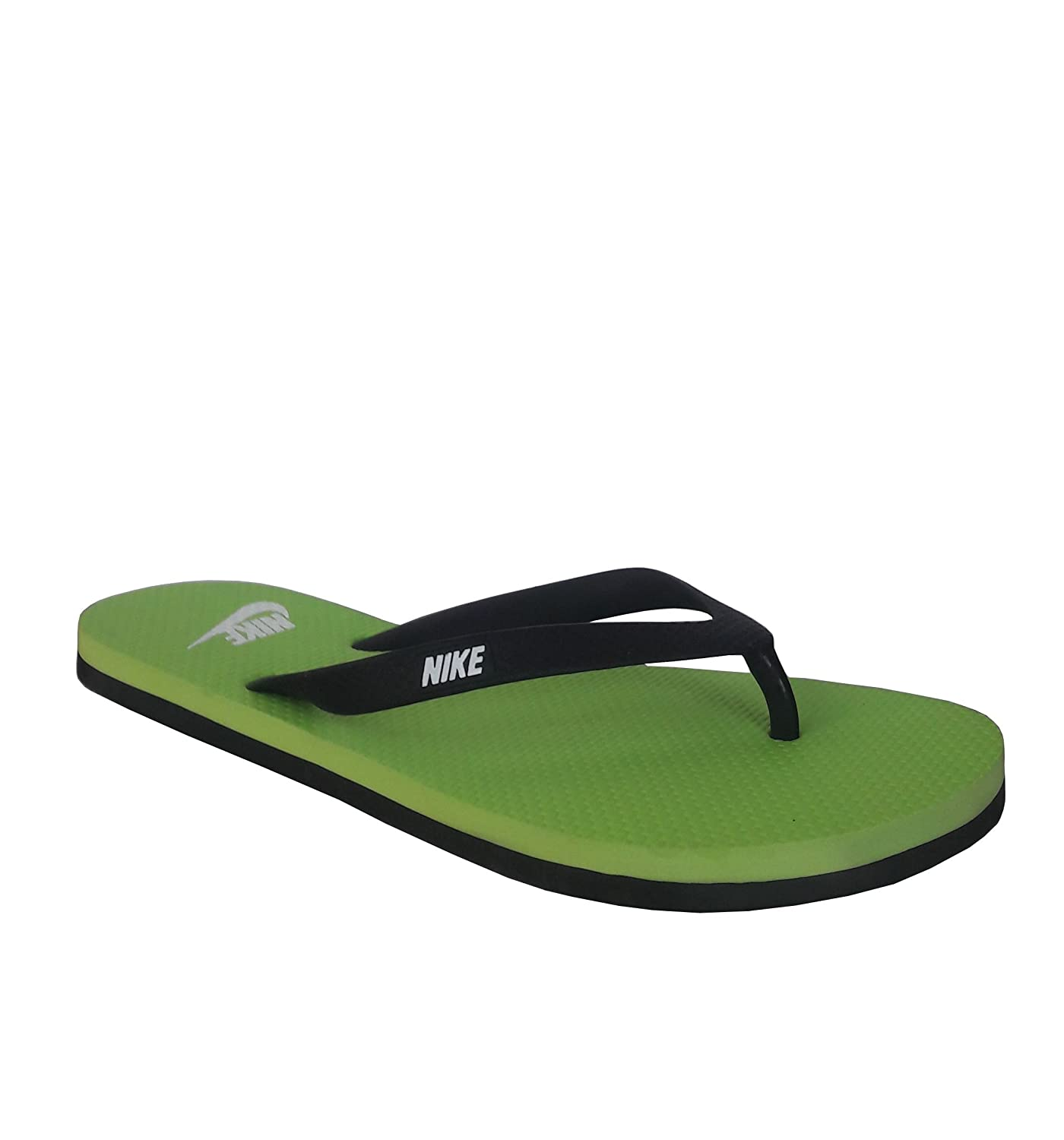 new arrival 86779 0fda0 Nike Aquaswift Thong Black/White - Electric Green Slippers ...
