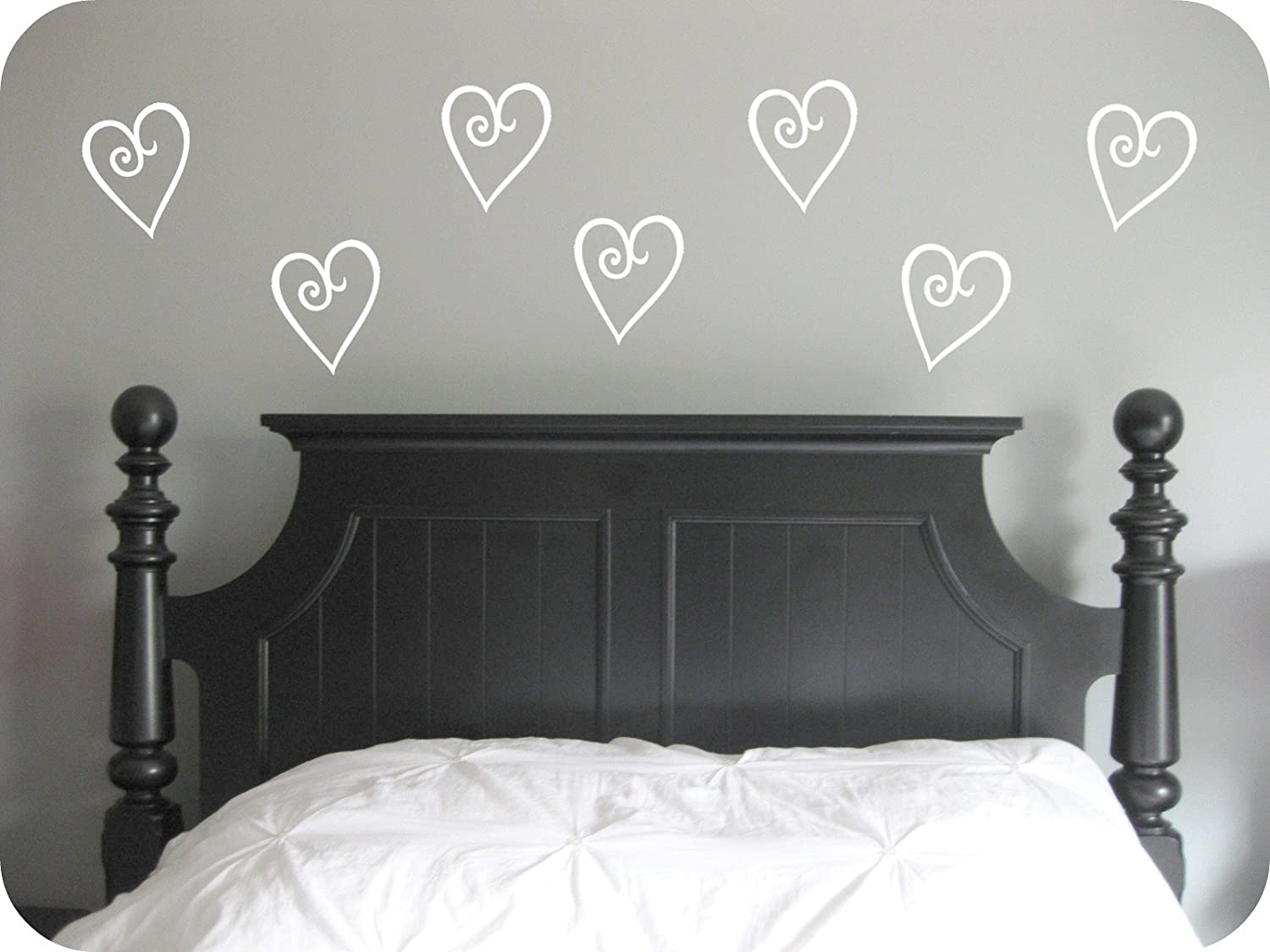 Wall decor Selection of sizes /& colours bedroom Decal Classic Hearts,Vinyl Wall Art Stickers Living room Home Mural