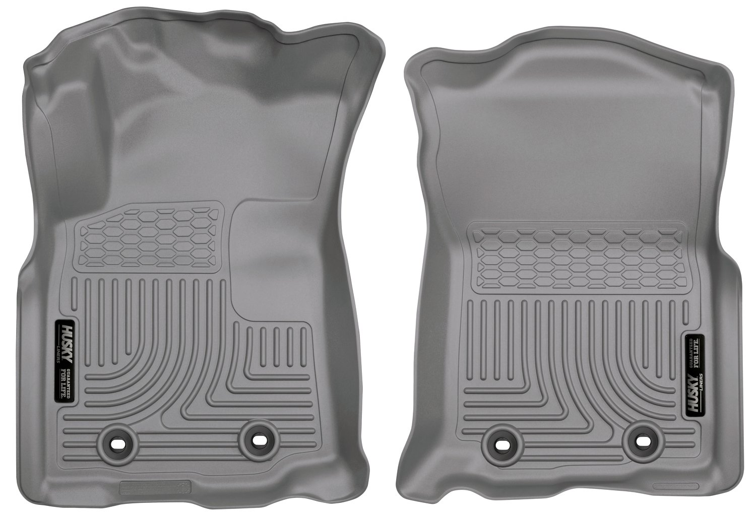 Husky Liners 13972 Grey Second Seat Front Floor Liner Fits 18-18 Tacoma Double//Access Cab - Automatic