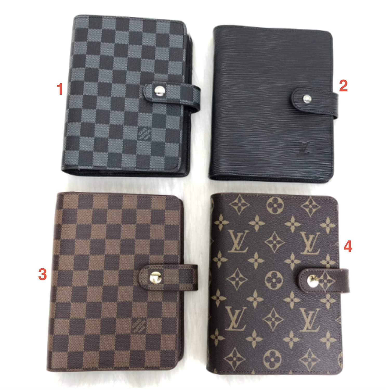 Amazon.com: Louis Vuitton Leather Agenda Book Cover HandMade ...