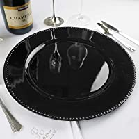 """Efavormart 6 pcs 13"""" Beaded Round Charger Dinner Chargers for Wedding Tabletop Decoration"""