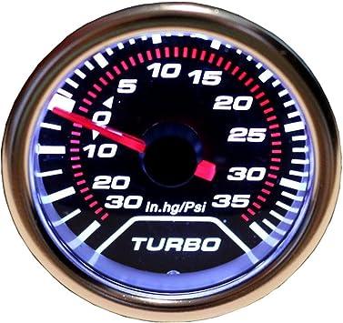 Universal 12V 52mm 2″ Car Digital LED Turbo Boost Meter Pressure Gauge Tint PSI
