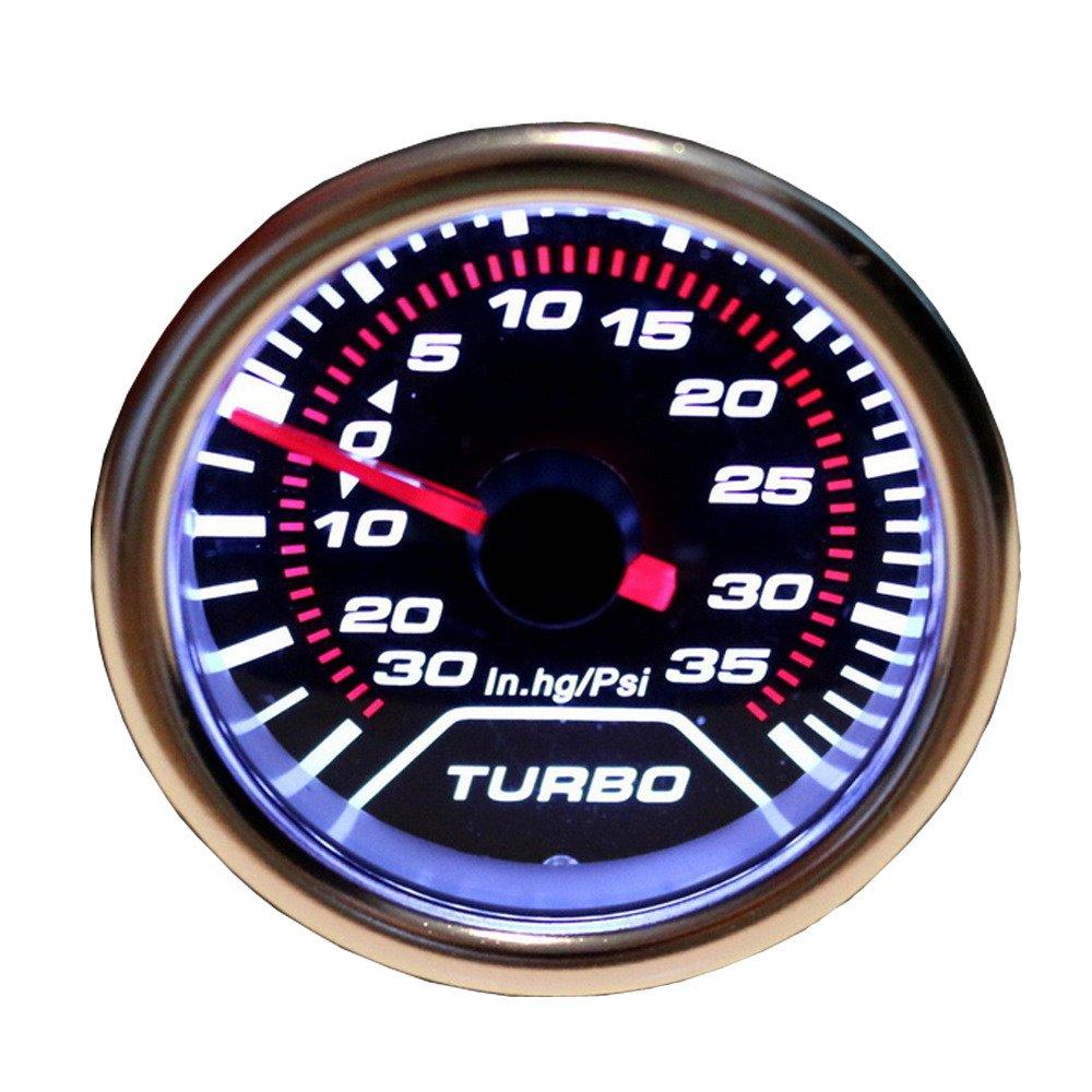Supmico 52mm Car Universal Smoke Tint Len Water Temp Temperature Indicator Gauge Meter White Light