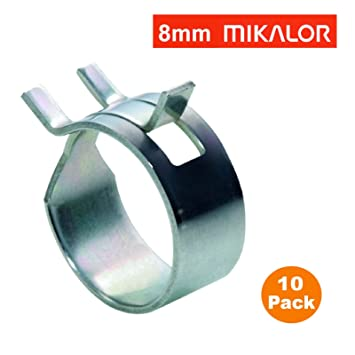 9mm Spring Fuel Oil Water Hose Clip Pipe Tube for Band Clamp Metal Fastener