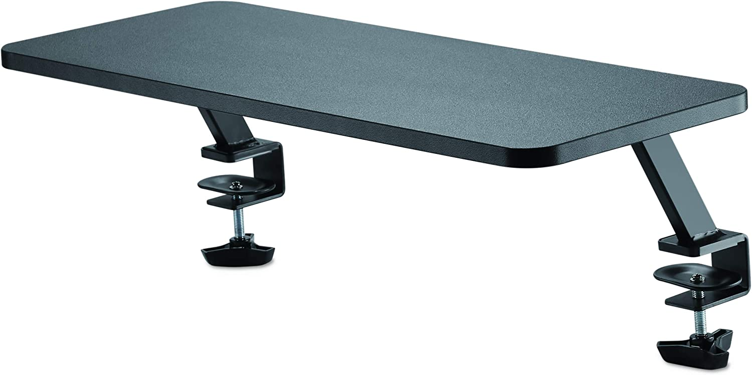 "StarTech.com Monitor Riser Stand - Clamp-on Monitor Shelf for Desk - Extra Wide 25.6"" (65 cm) for up to 34"" Monitors - Black (MNRISERCLMP)"