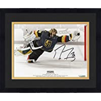 "$104 » Framed Marc-Andre Fleury Vegas Golden Knights Autographed 8"" x 10"" Diving Save vs. Toronto Maple Leafs Photograph - Fanatics Authentic…"