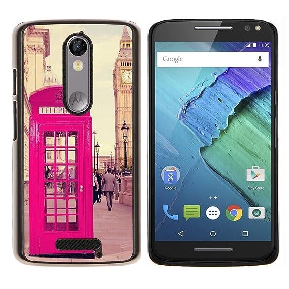 Phone Booth Uk United Kingdom Big Ben - Aluminum Metal&Hard Plastic Back Case Cover - Black