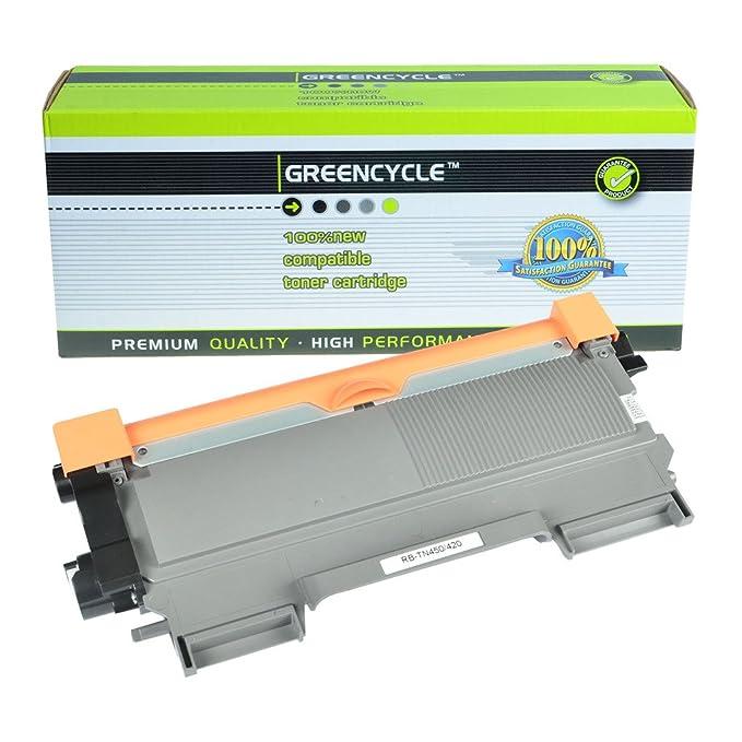 greencycle 1 Pack TN450 TN420 Negro Cartucho de tóner de Repuesto ...