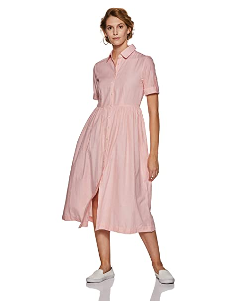 7869e674bc4 Stalk Buy Love Women s Cotton Errand Dress  Amazon.in  Clothing ...