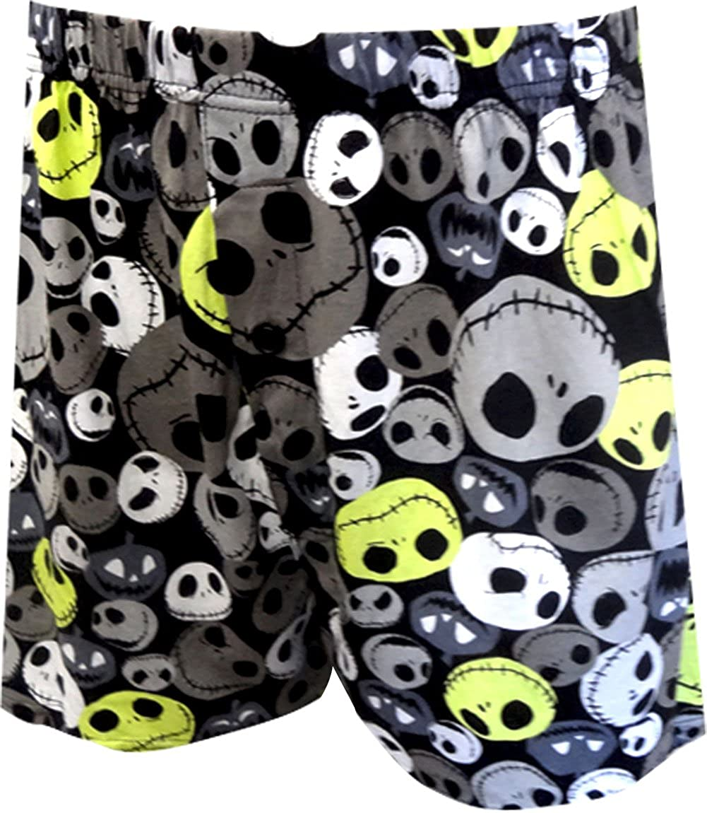 The Nightmare Before Christmas Men's Black Boxers, Small Briefly Stated WB020MBS