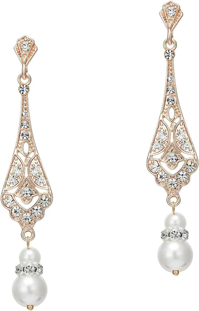 1920s Gatsby Pearl Earrings