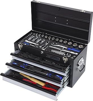 KS Tools 918.0100 - Caja de herramientas (cromo, 3 cajones, 99 ...