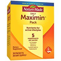 Nature Made Maximin Pack - Vitamins for Active Lifestyles, 30 Day Supply (Packaging...