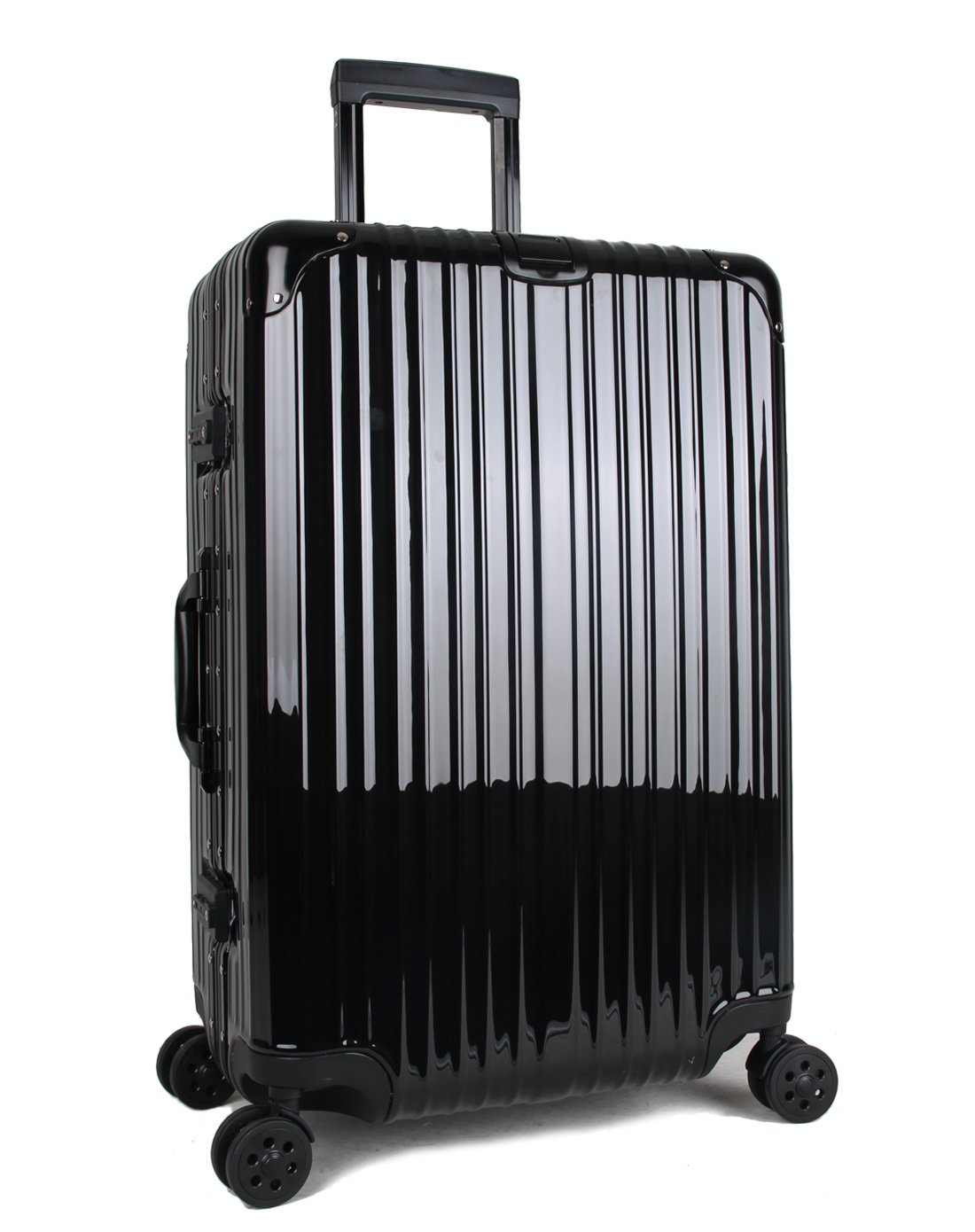 426e63d00583 Newest Trolley Luggage Lightweight Business Travel Carry on TSA Lock  Hardshell Suitcase ABS+PC Aluminum Frame (Black, 20