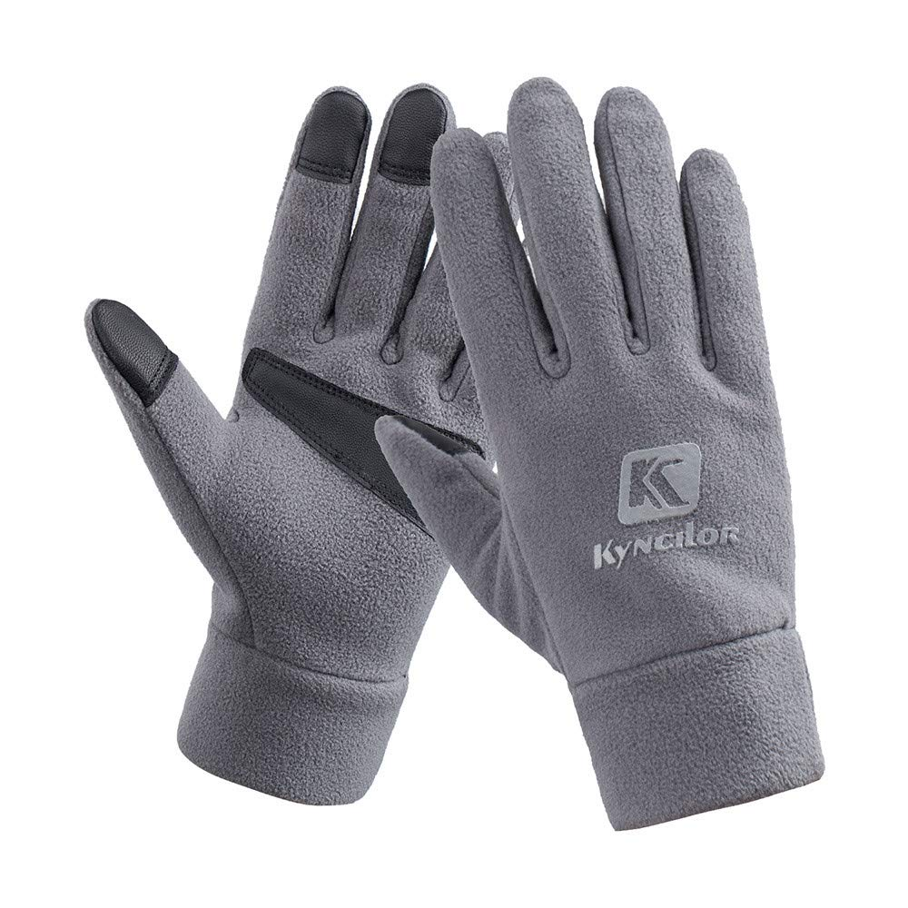 Unisex Winter Gloves, Warm Thermal Gloves Running Gloves Cold Weather Gloves Driving Riding Cycling Gloves Outdoor Sports Gloves for Men and Women (Gray 89#, S)