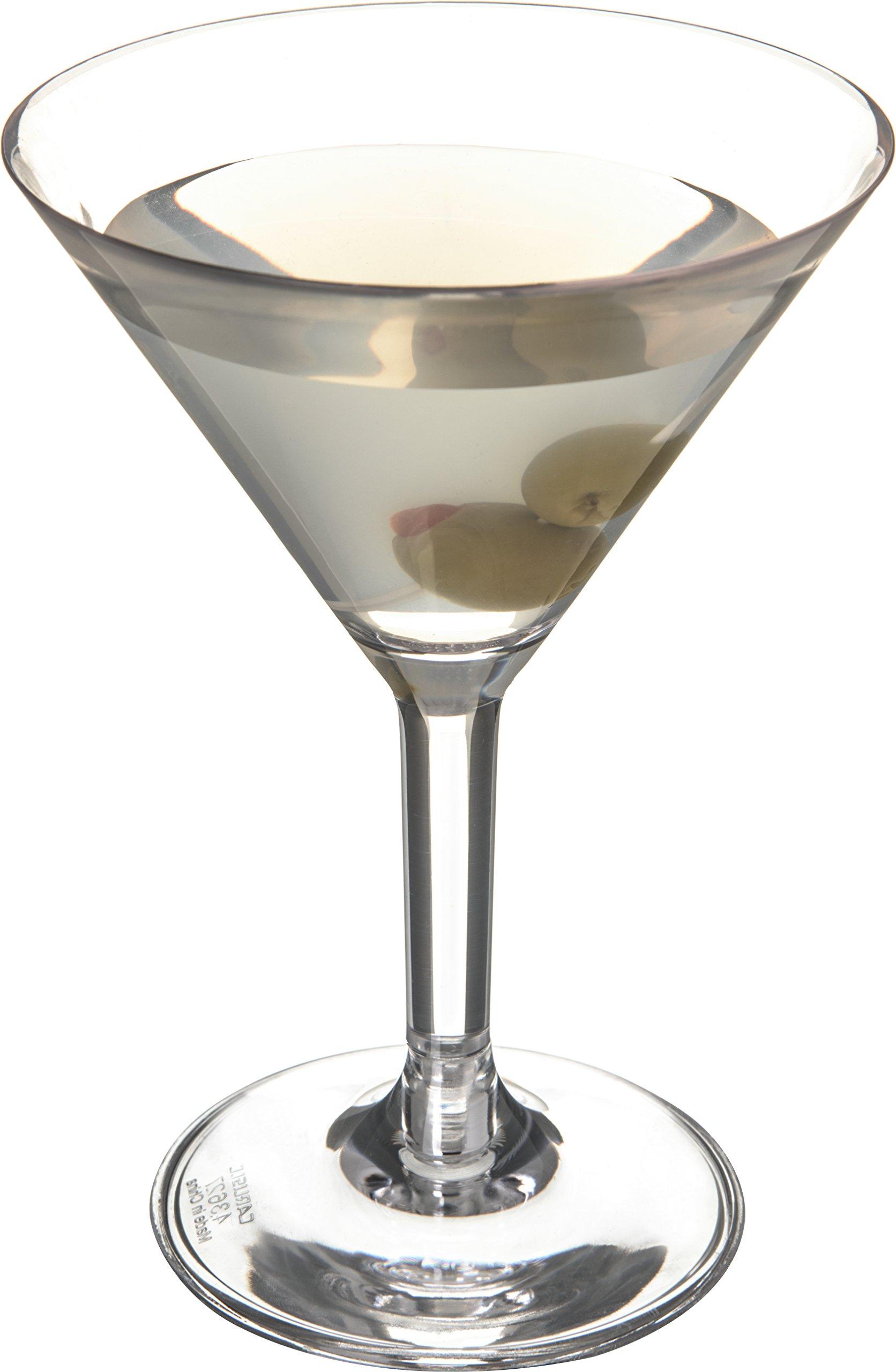 Carlisle 4362707 Liberty Polycarbonate Martini Glass, 8-oz. Capacity, Clear (Case of 24) by Carlisle (Image #2)