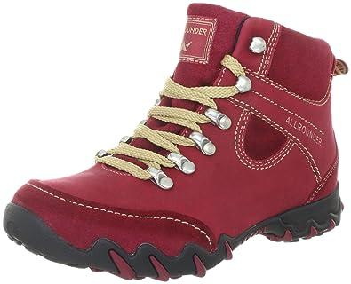 Allrounder by Mephisto NELJA P2002541, Damen Klassische Sneakers, Rot (REDRED C.SUEDE 48ROSIK 48), EU 36 (UK 3 US 5.5)