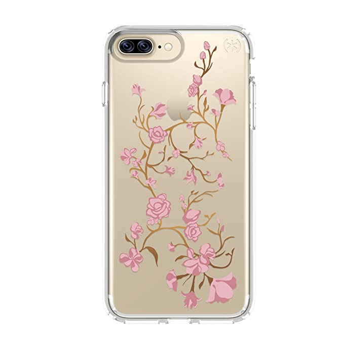 uk availability b5334 a15ee Speck Products Presidio Clear + Print Cell Phone Case for iPhone 7 Plus -  Goldenblossom Pink/Clear