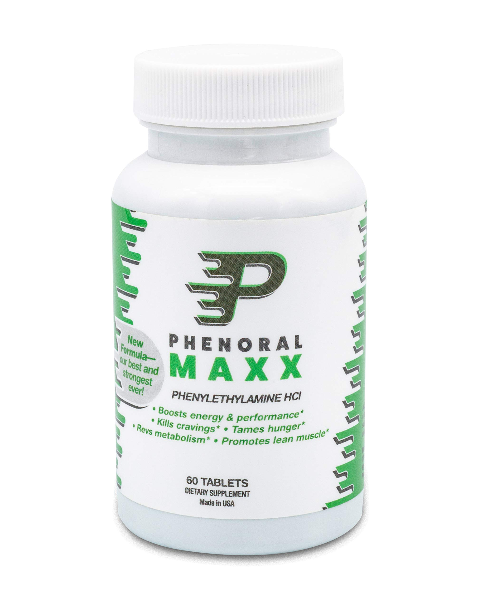Phenoral Maxx Maximum Strength Weight Loss Diet Pill - Phenylethylamine - Appetite Suppressant and Energy - Boost Your Metabolism While Eating Less by Phenoral
