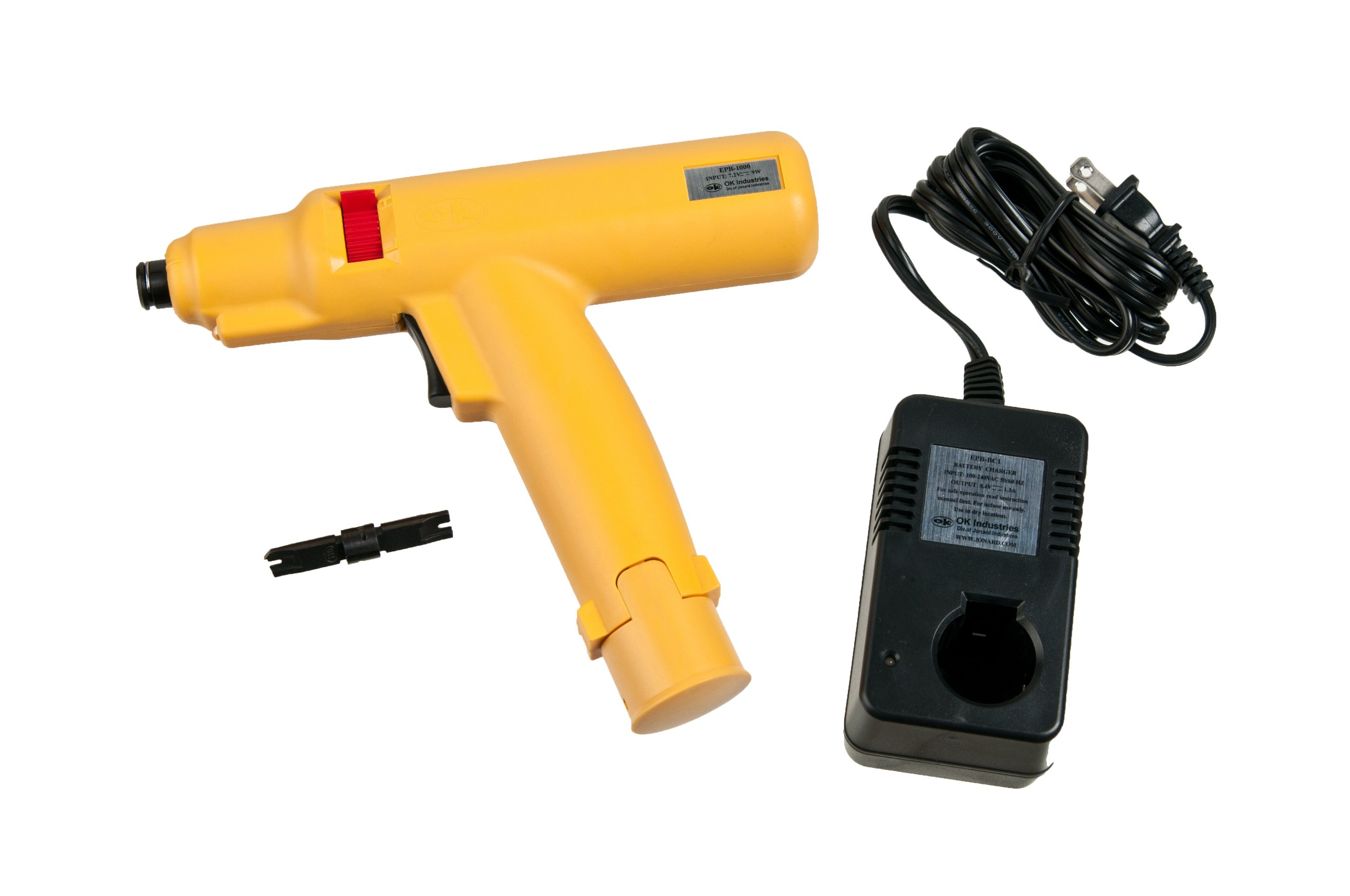 Jonard EPB-1110 Battery Powered Punchdown Tool with 110 Blade, 115V Charger