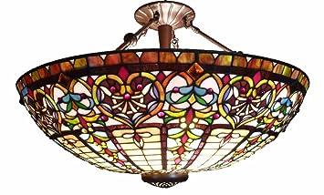 Lámpara de Techo Colgante Tiffany - Grand: Amazon.es ...