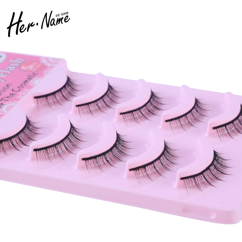 9b056a27483 Amazon.com : Her name short false eyelashes (5-Pairs) : Beauty
