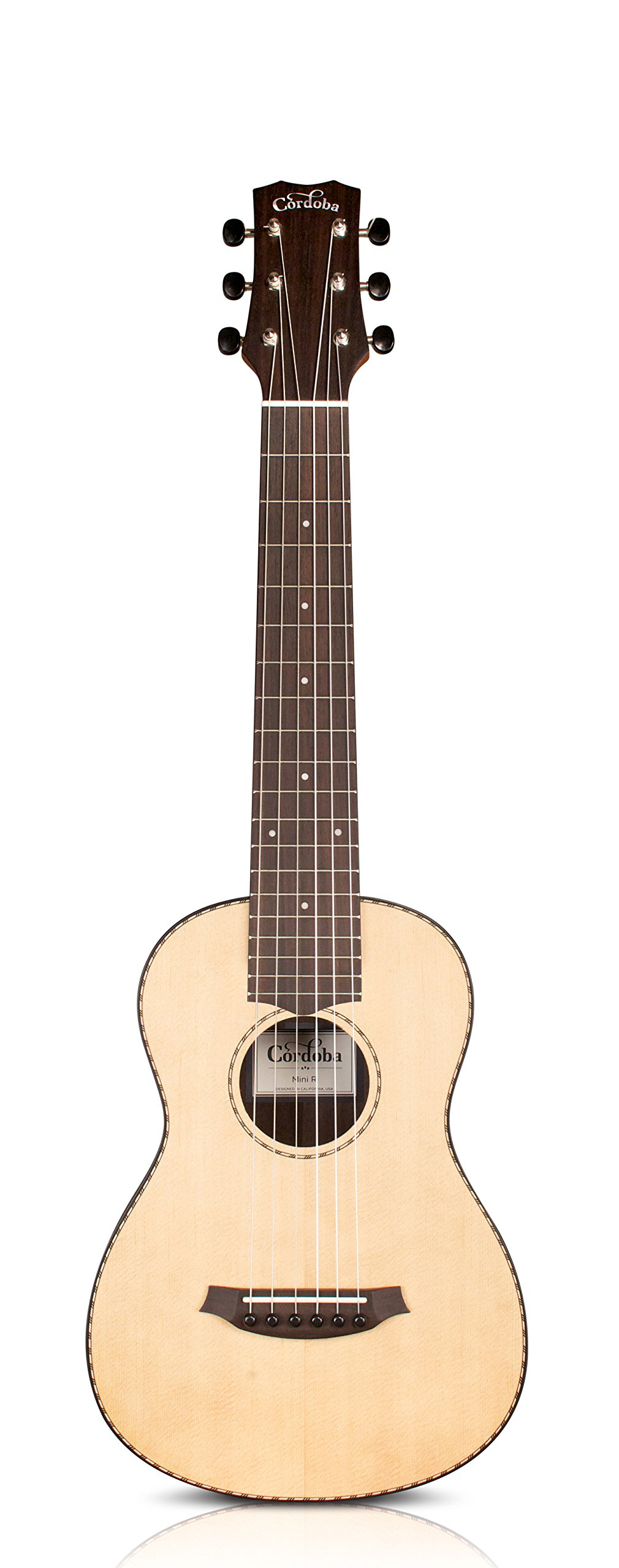 Cordoba Mini R Travel Acoustic Nylon String Guitar With Cordoba Gig Bag