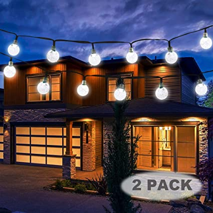 timeless design 991b4 1720a Vivii Solar String Light 20 ft 30 LED Crystal Ball Waterproof String Lights  Solar Powered Fairy Lighting for Garden Home Landscape Holiday ...