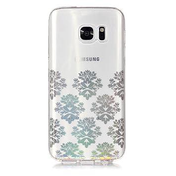 Lomogo Funda Galaxy S7 Transparente, Carcasa Silicona Suave ...