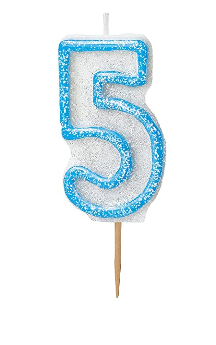 6 opinioni per Unique Party 37925 Candela Numero 5, Blu Brillante