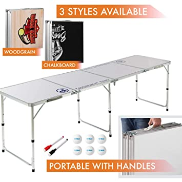Amazoncom 8 Foot Beer Pong Table Dry Erase By Rally And Roar