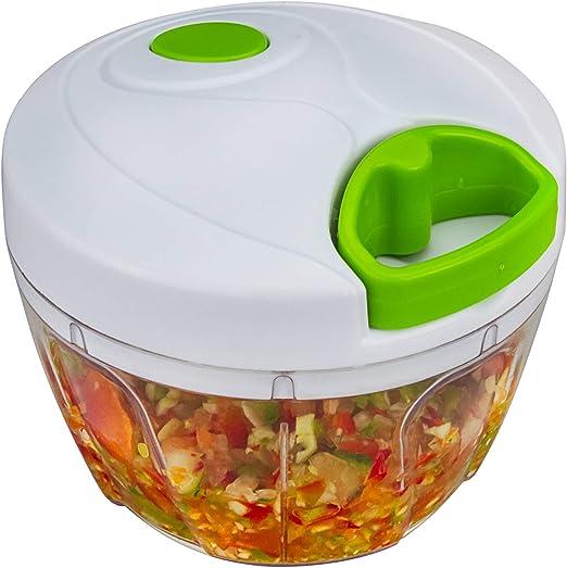 Bignay Plastic Chopper Vegetable Cutter, Manual Food Processor ...