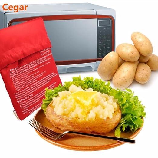1 bolsa de cocina lavable para microondas y patatas horneadas ...