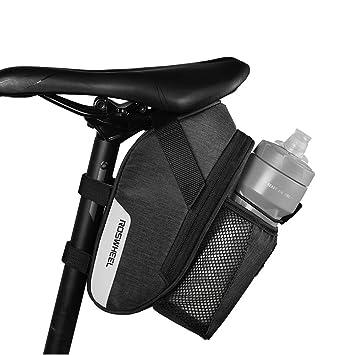 vertast bicicleta impermeable bolsa para sillín de bicicleta botella de agua soporte para bicicleta CTB bajo el asiento bolsa para bicicleta con luz ...