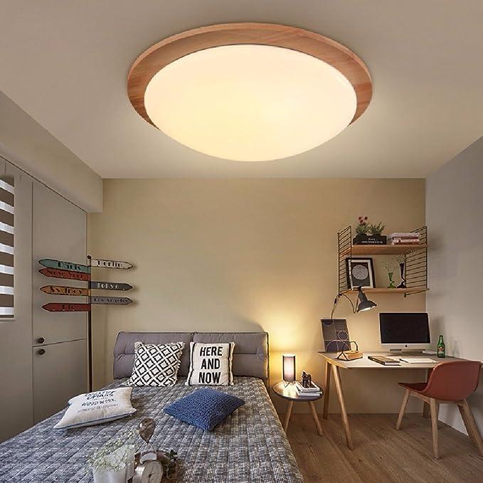Simple Modern Led lampara de madera Dormitorio Habitación de los ...