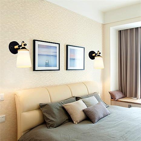 Moderno e minimalista letto Camera da letto parete Lampade luci Led ...
