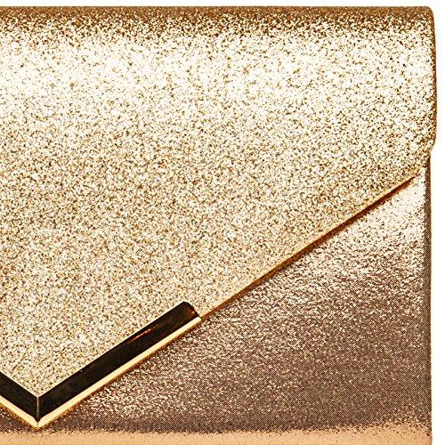 main de TA430 à soirée Champagne forme femme pour sac Pochette enveloppe métallique CASPAR XL 4aqPwF