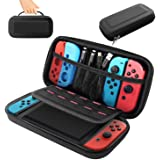 BOOGIIO Nintendo Switch Carrying Case, Hard Shell Travel Carrying Box Case for Nintendo Switch with 10 Game Cards Holders, Po