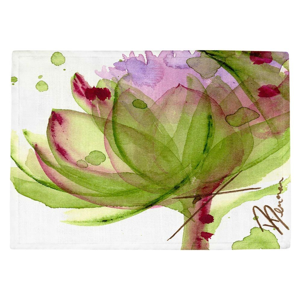 DIANOCHEキッチンPlaceマットby Dawn Derman – Artichoke Flower Set of 4 Placemats PM-DawnDermanArtichokeFlower2 Set of 4 Placemats  B01EXSJAPU