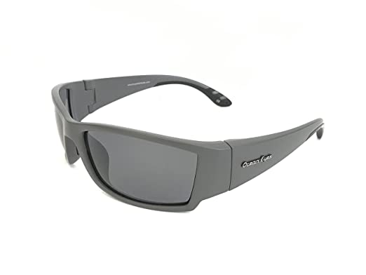85befd357f2 Image Unavailable. Image not available for. Color  Ocean Eyes Fish On Polarized  Sunglasses - Grey Frame Matte Finish