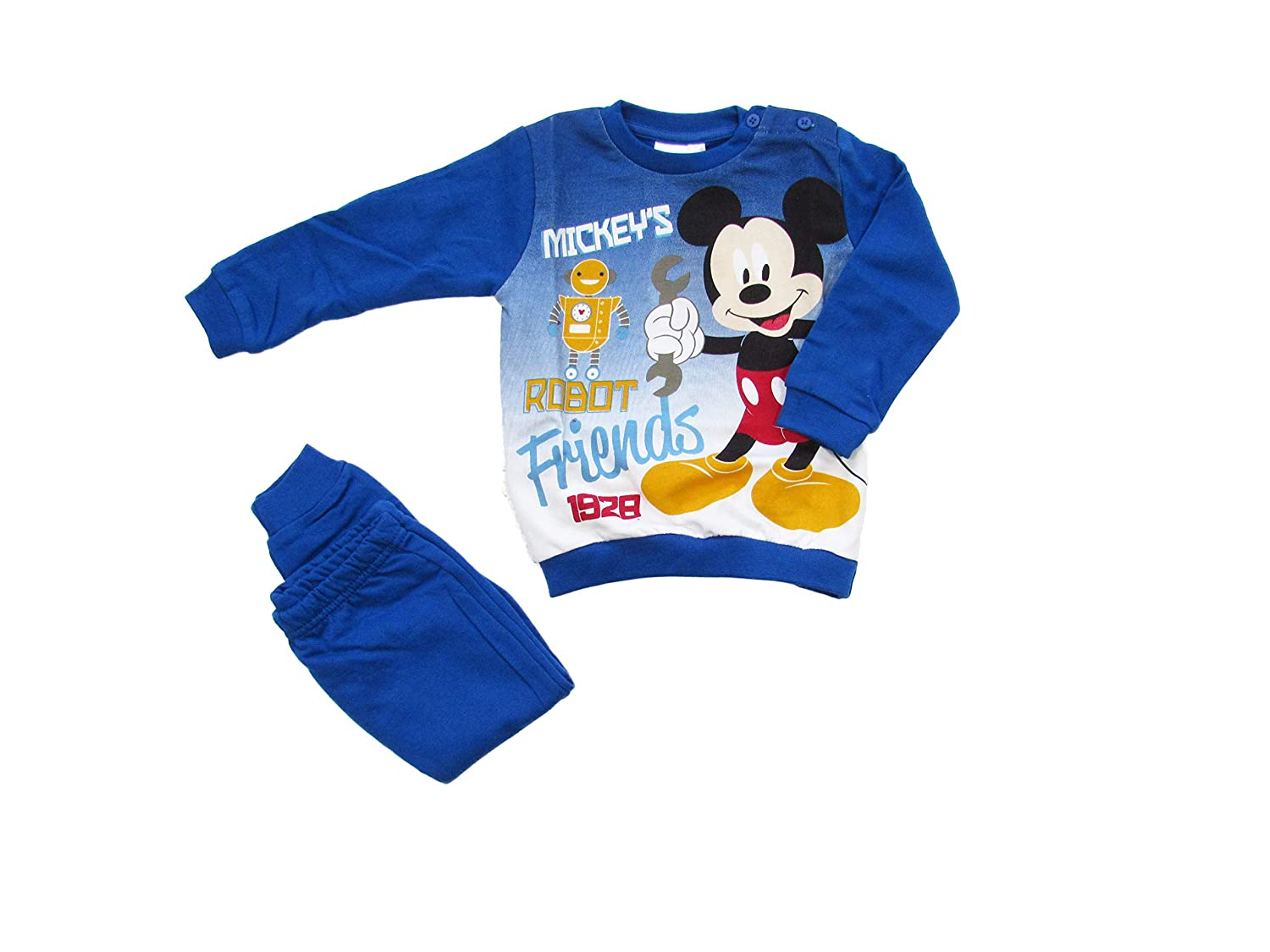 ARNETTA Disney Baby Pigiama Neonato Topolino Invernale, Felpato all'Interno - Art. 45729 Felpato all' Interno - Art. 45729